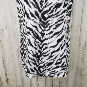 OP Tops - OP Womens Tank Top XXL Black White Zebra